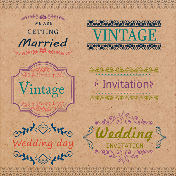 Wedding Card Templates Design With Vine Style