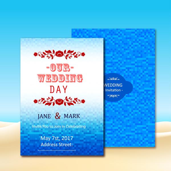 wedding invitation card design with