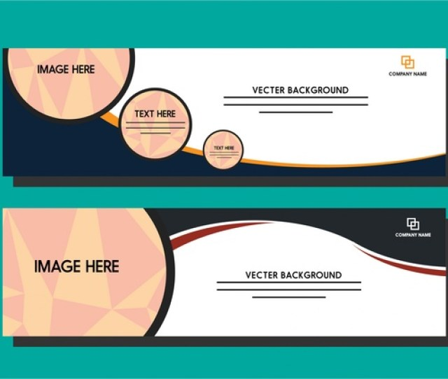 White Banner Template Circles And Curves Design Style Free Vector In