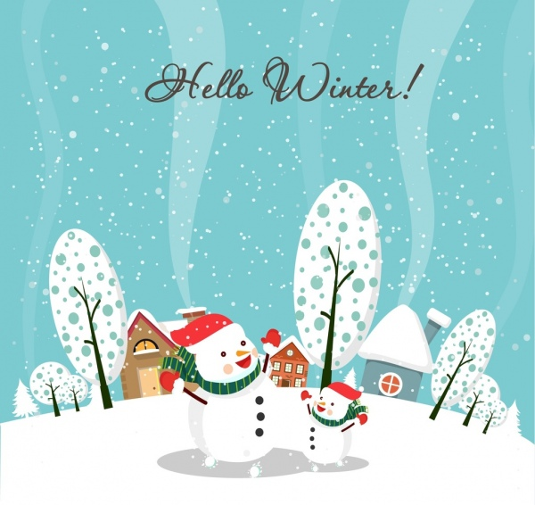 Winter Background Vector Free Vector Download 49027 Free