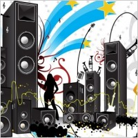 FREE POP ART STYLE MUSIC VECTOR