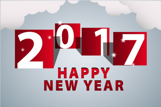 New year template coreldraw free vector download  20 469 Free vector     2017 new year template with cloud and red numbers