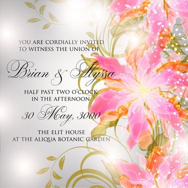 flower birthday invitation template