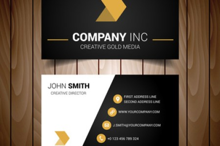 Gold black vector business cards free vector download  30 575 Free     black and gold minimal business card