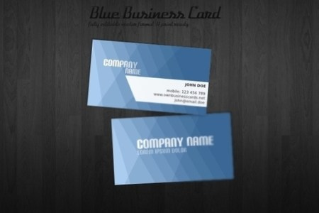 Modern blue business card templates free vector download  36 410     blue business card template