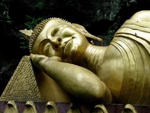 buddha gold sleeping