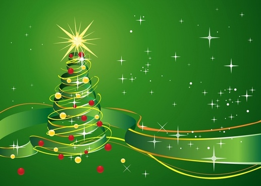 Green Christmas Background Free Vector Download 55053