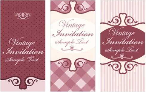 blank invitation card free vector