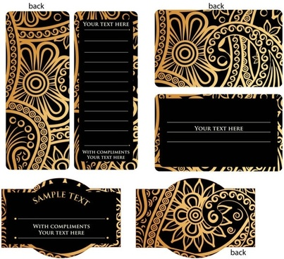 Europeanstyle Simple Patterns Invitation Card 02 Vector