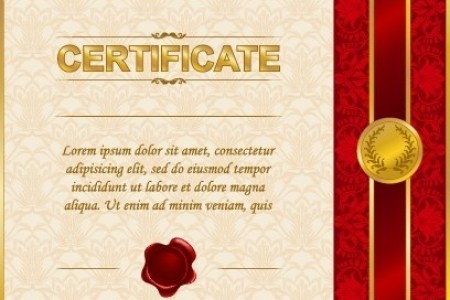 Certificate gold border template free vector download  20 491 Free     excellent certificate and diploma template design