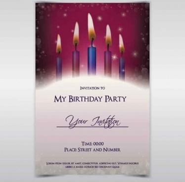 birthday invitation background free