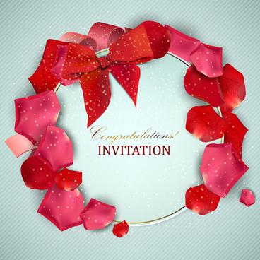 invitation card design cdr free vector