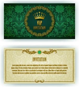 luxury royal invitation card for design