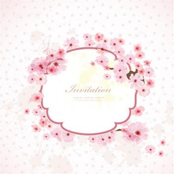 pink birthday invitation free vector