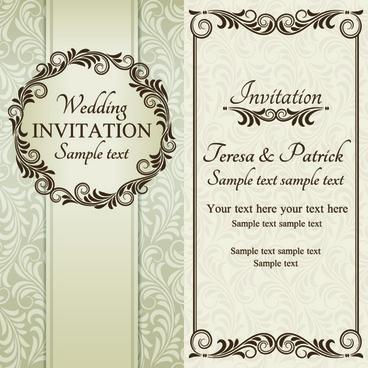 Romantic Ornate Wedding Invitations