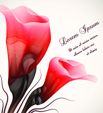 Romantic flower free vector download  11 999 Free vector  for     set vector of romantic flowers art