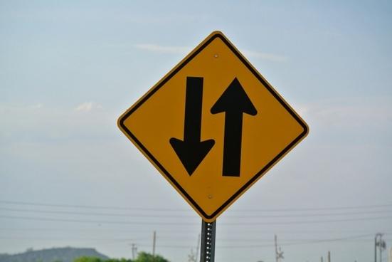 street sign traffic direction