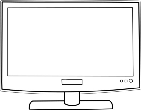Tv Television Drawing Free Vector Download 90936 Free