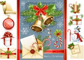 Christmas Decor Sample Elements Vector Set 03