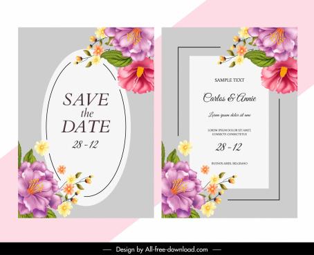 wedding card vector free vector