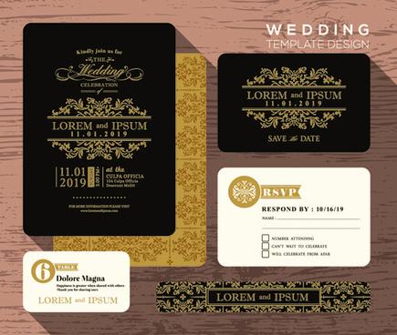 Vine Wedding Invitation With Fl Details