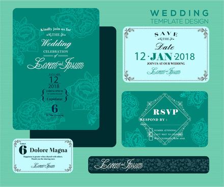 wedding invitation clip art free vector