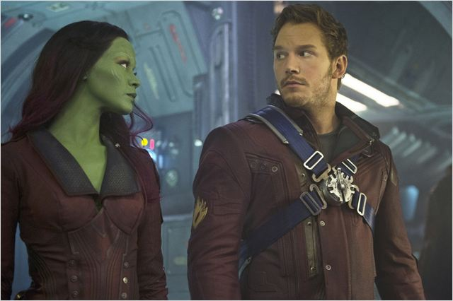 Les Gardiens de la Galaxie : Photo Chris Pratt, Zoe Saldana