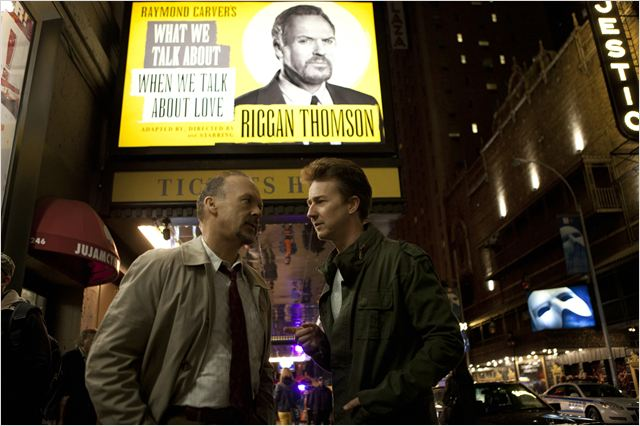 Birdman : Photo Edward Norton, Michael Keaton