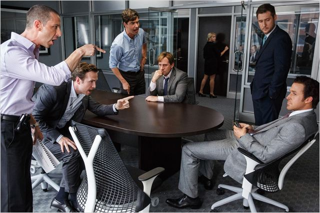 The Big Short : le Casse du siècle : Photo Hamish Linklater, Jeffry Griffin, Jeremy Strong, Rafe Spall, Ryan Gosling