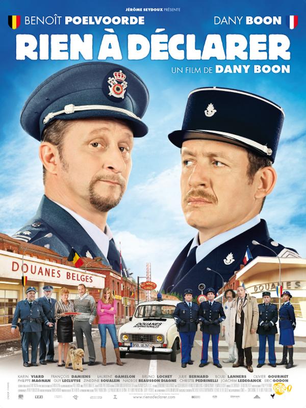 """Affiche du film de Dany Boon """"Rien à déclarer"""" - source : Allo Ciné"""