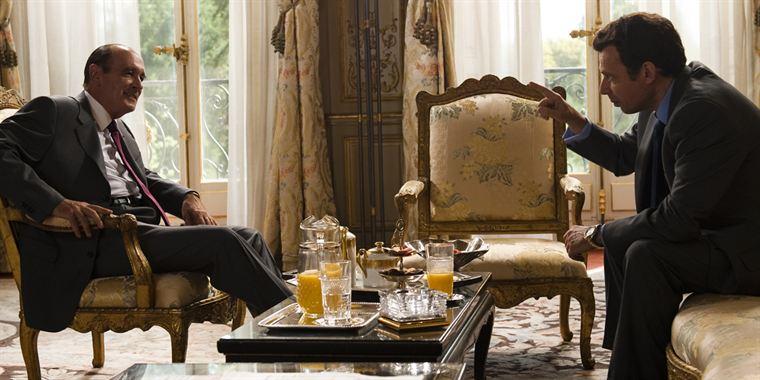 Jacques Chirac (Bernard Le Coq) et Nicolas Sarkozy (Denis Podalydès) sont du même parti, mais pas du même clan...