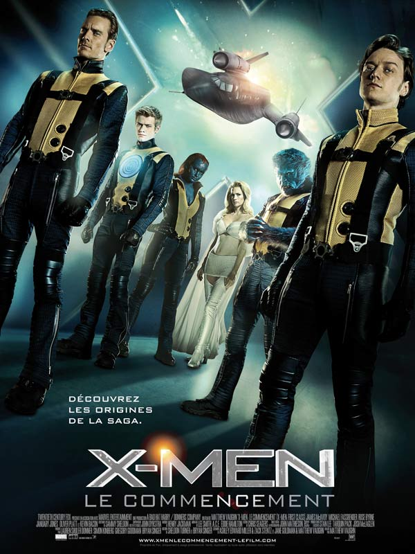 "Affiche du film ""X-Men : le commencement"""