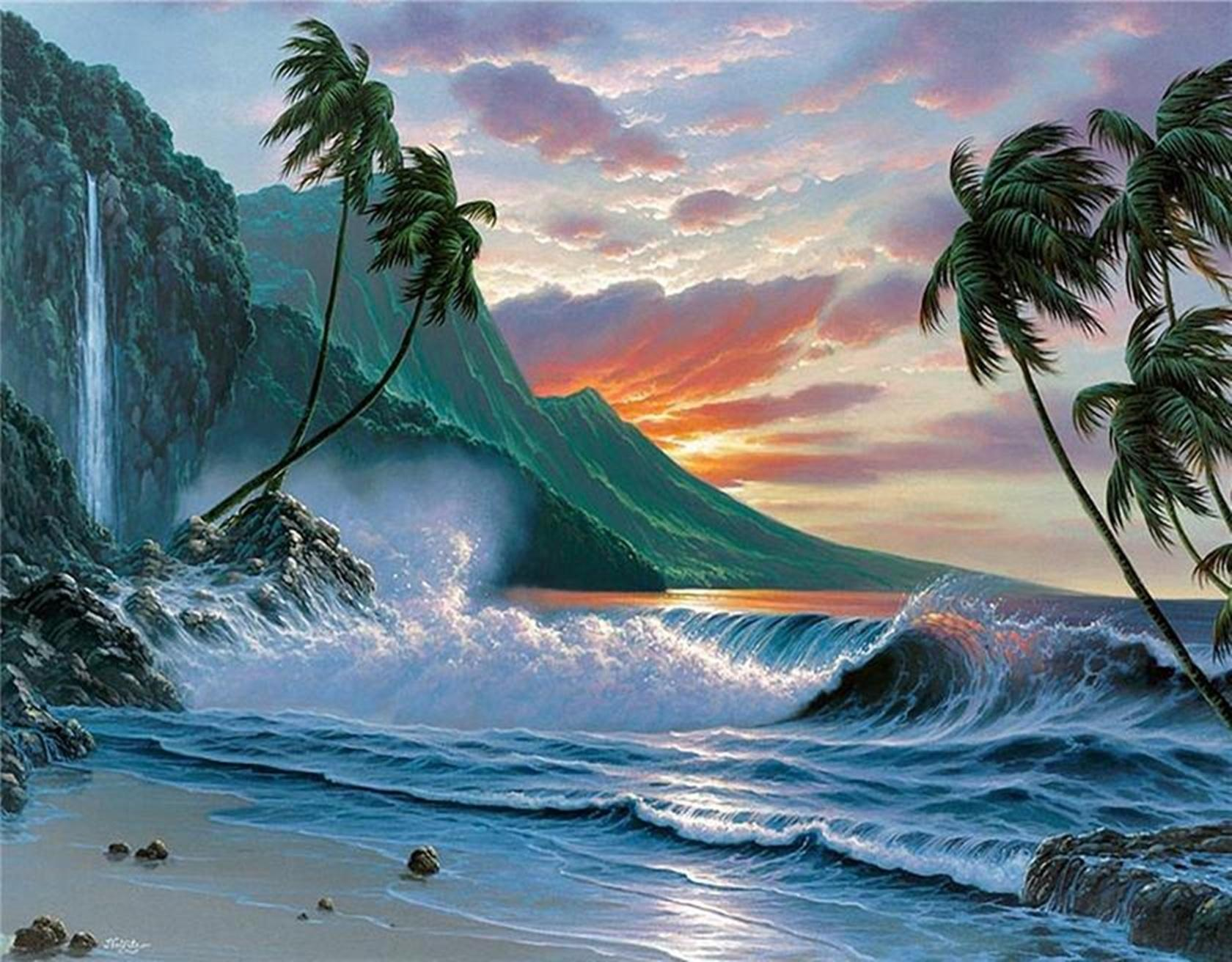fantasy beach wallpaper and background | 1680x1312 | id:686547