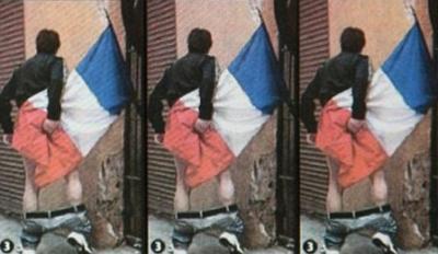 صورة شخص يمسح مؤخرته بعلم فرنسا تثير جدلا وغضباً عارماً في الأوساط الفرنسية