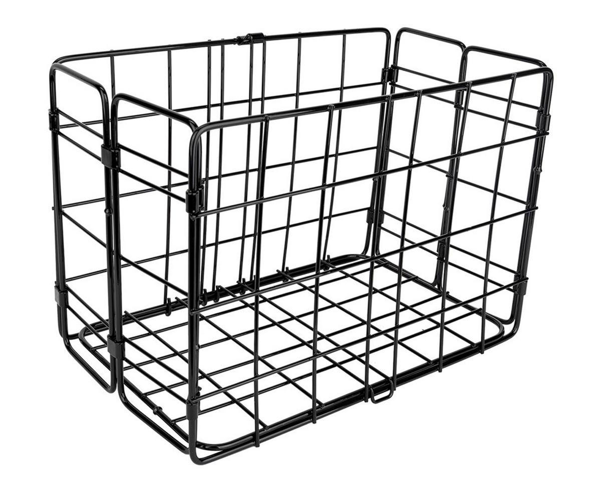 Wald Side Mount Folding Rear Basket 12 75x7 25x8 5 Black 582bl Accessories