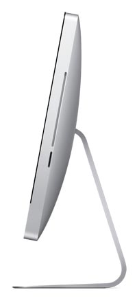 Side of the 21.5-inch Apple iMac