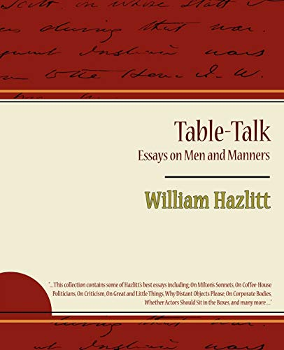 Table-Talk, Essays on Men and Manners