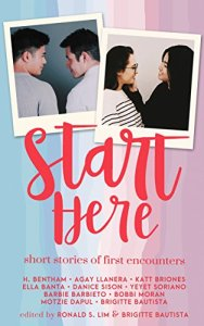 Start Here short story anthology edited by Ronald Lim and Brigitte Bautista book cover