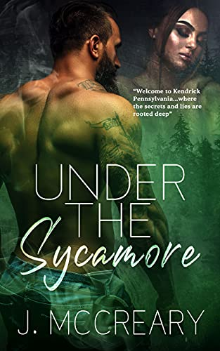 Under the Sycamore by J. McCreary. A shirtless man seems to have a tree and moss growing on his chest.