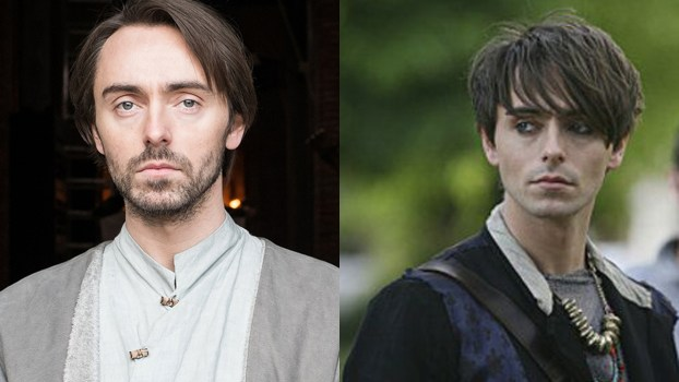 David Dawson in 'The Last Kingdom' (left) and 'Secret Diary of a Call Girl.' (Photos: BBCA/HBO)