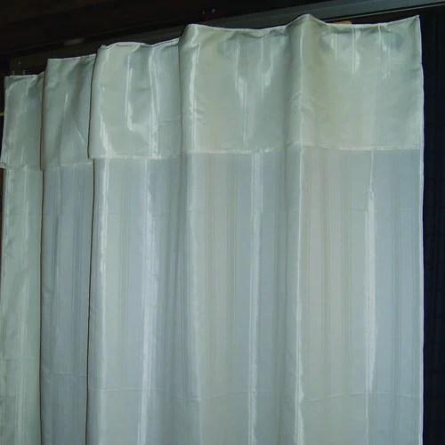 hookless striped shower curtain beige 71 x 78