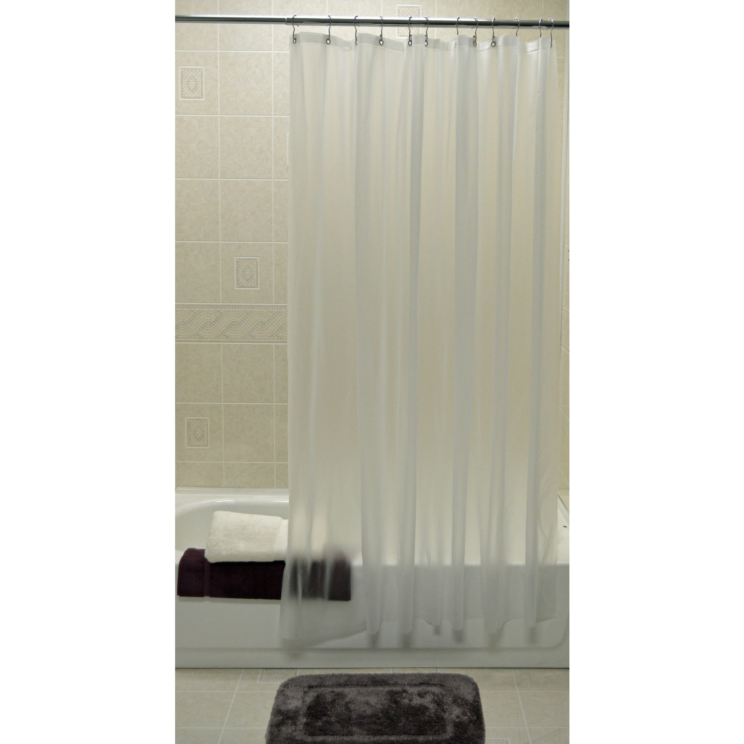 kartri shower curtain liner p free frosty 72 x 78