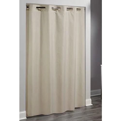 hookless shower curtain beige