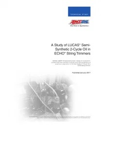 A Study of Lucas Semi-Synthetic 2-Cycle Oil in ECHO® String Trimmers G3466