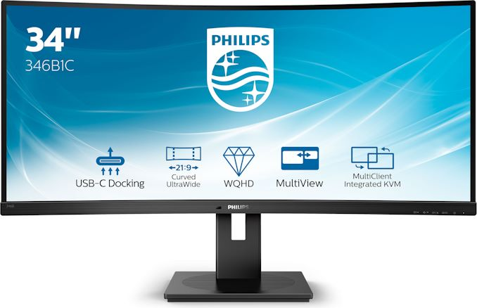 Philips Reveals 346B1C 34-Inch 100 Hz Curved UltraWide Monitor with USB-C Docking