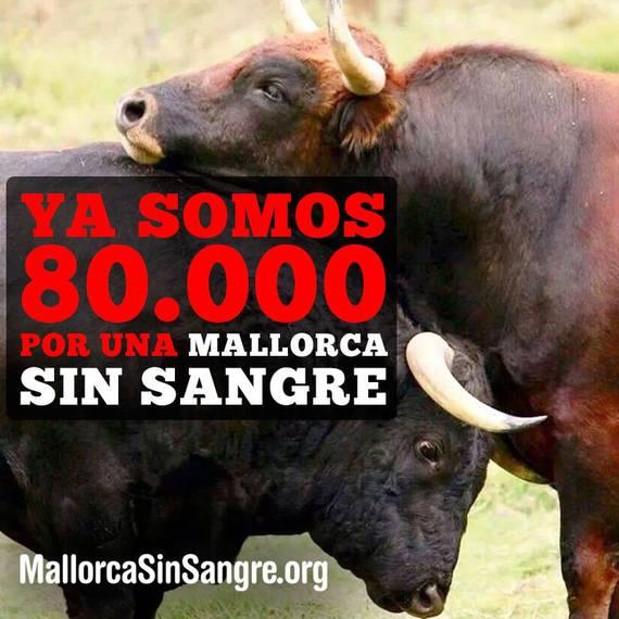 Más de 80.000 firmas contra la tauromaquia en Mallorca