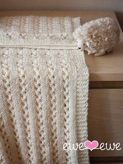 Sweet Pea Baby Blanket Knit Pattern