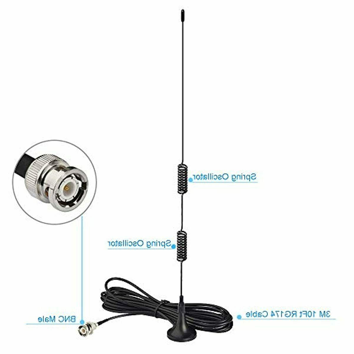 Bingfu Vhf Uhf Ham Radio Police Scanner Antenn