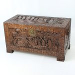 Carved Chinese Camphor Wood Chest Or Coffee Table Antiques Atlas