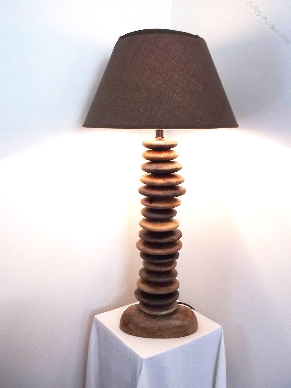 Antiques Atlas Vintage Wooden Pebble Lamp